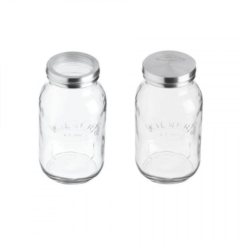 Tarro de cristal Espolvoreador 1L Kilner