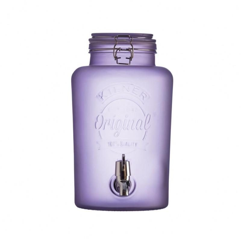 Dispensador con grifo de cristal translucido Púrpura 5L Kilner