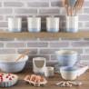Bol de cerámica con asa Crema y Azul Mason Cash