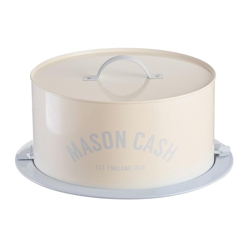 Transportador de tarta de lata Crema y Azul Pastel Mason Cash