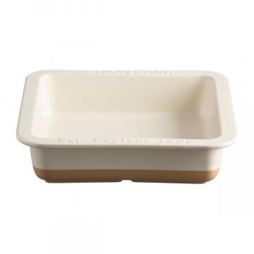 Molde de cerámica cuadrado Crema y Beig tostado Mason Cash