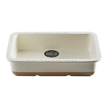 Molde de cerámica rectangular Crema y Beig tostado Mason Cash