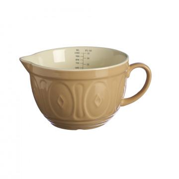 Bol de cerámica con asa Beig Tostado con interior Crema Mason Cash