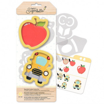 Kit de 7 piezas decoración Galletas: Colegio Sweet Sugarbelle