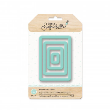 Pack de 4 cortantes Rectangular Sweet Sugarbelle