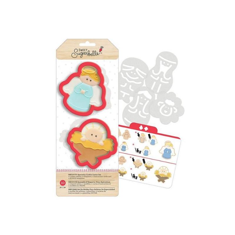 Kit de 7 piezas decoración Galletas: Natividad Sweet Sugarbelle