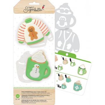 Kit de 7 piezas decoración Galletas: Jersey y Taza Sweet Sugarbelle