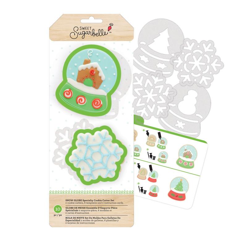 Kit de 7 piezas decoración Galletas: Bola de Navidad y Copo de Nieve Sweet Sugarbelle