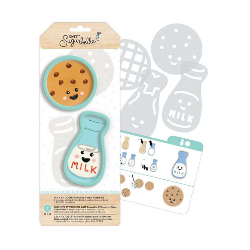 Kit de 7 piezas decoración Galletas: Leche y Galleta Sweet Sugarbelle
