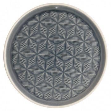 Plato de cerámica labrado Kallia Grey Green Gate