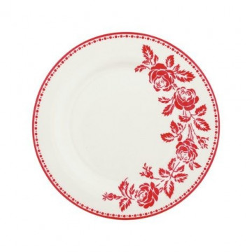 Plato de cerámica de 20 cm Fleur Red Green Gate