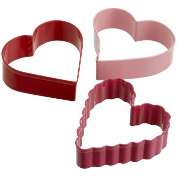 Pack de 3 cortantes Corazón Varios Wilton