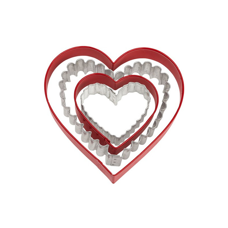 Pack de 4 cortantes Corazón Varios Wilton