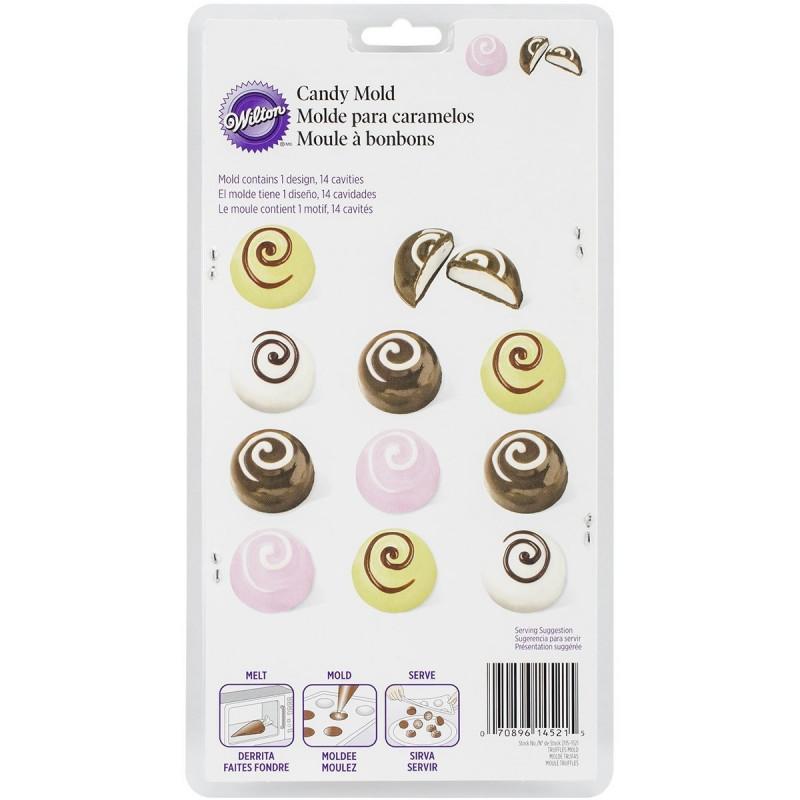 Molde para chocolate media esfera Wilton