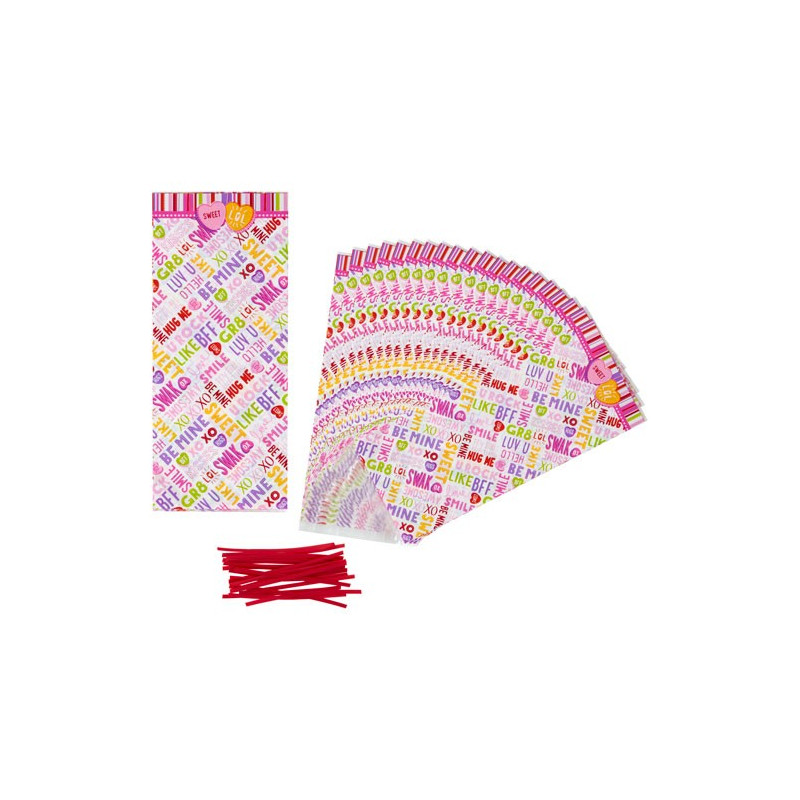 Pack de 20 bolsas Palabras Words Can Express San Valentín Wilton