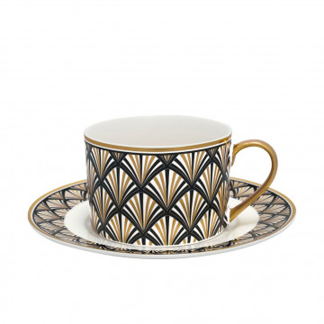 Taza + plato Celine Black Gate Noir Green Gate