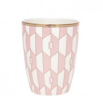 Tazón de leche Aurelie Pale Pink Gate Noir Green Gate