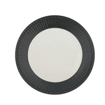 Plato de cerámica de 23 cm Alice Dark Grey Green Gate