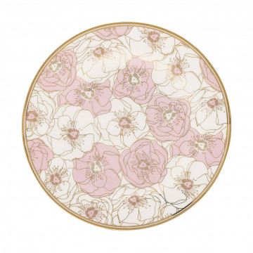 Plato de cerámica Flori Pale Pink Gate Noir Green Gate