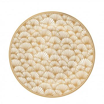 Plato de cerámica de 20 cm Jaqueline Gold Get Noir Green Gate