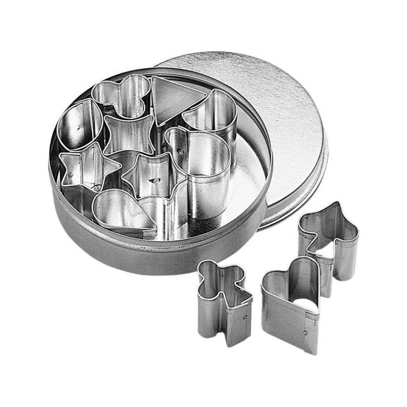 Cortantes pack 12 formas minis 1-3cm BKmann