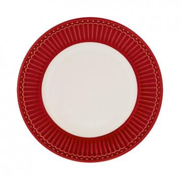 Plato de cerámica de 17 cm Alice Red Green Gate