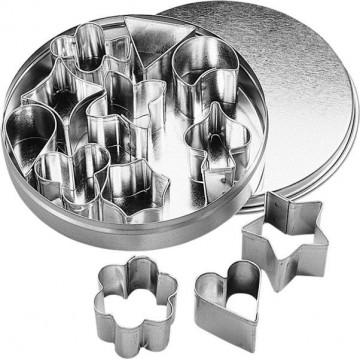 Cortantes pack 12 formas minis 2-3cm BKmann
