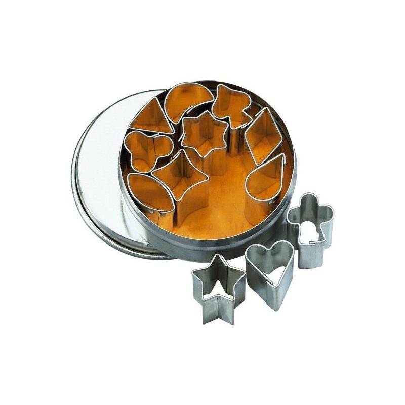 Cortantes pack 12 formas minis 1-1.5cm BKmann