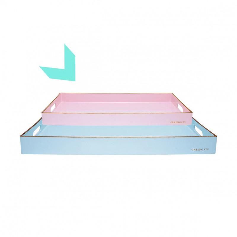 Bandeja rectangular mediana Rosa Pastel Pale Pink Green Gate