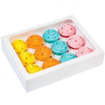 Pack de 3 cajas para 12 mini cupcakes Wilton
