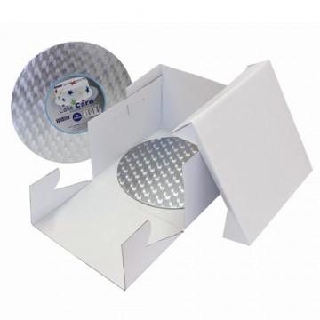 Caja para tartas cuadrada de  30 cm + Bandeja PME
