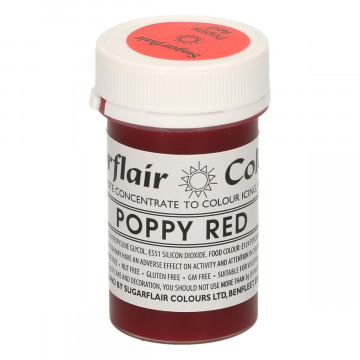 Colorante en pasta Poppy Red Sugarflair