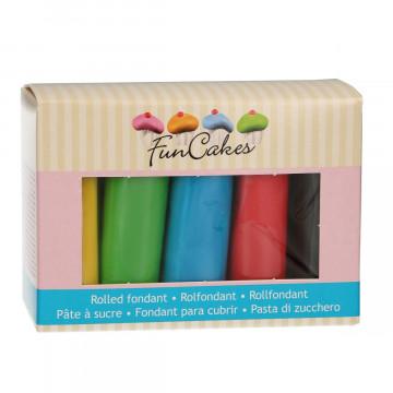 Pack de 5 fondant Colores Básicos 100gr Funcakes