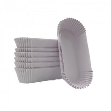 Pack de 25 cápsulas de magdalenas rectangulares 8 cm