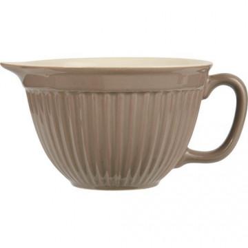 Bol de cerámica con asa Beig Tostado Iblaursen