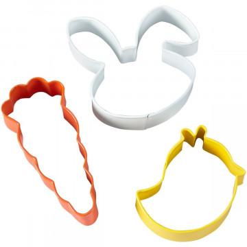 Pack de 3 cortantes Conejo, Zanahoria y Pollito Wilton