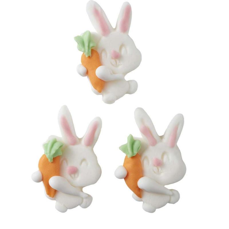 Decoraciones comestibles Conejo con Zanahoria Wilton
