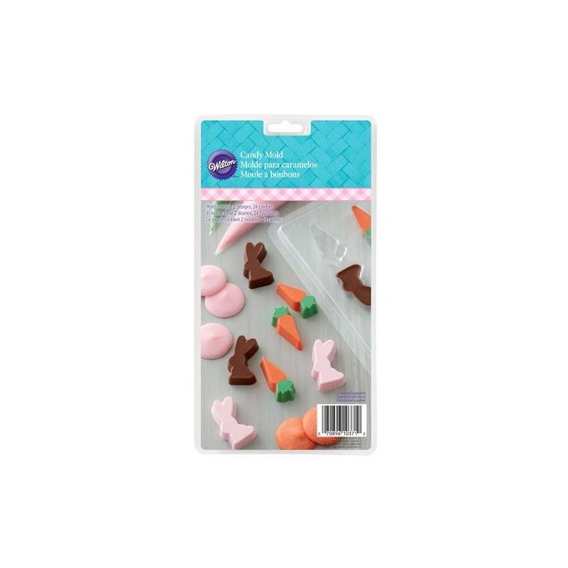 Molde de bombones Conejo y Zanahoria Wilton
