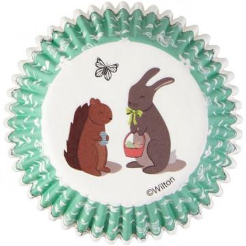 Cápsulas cupcakes Conejo y Ardilla Wilton