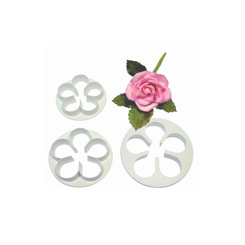 Cortante pack 3 cortantes flor rosas