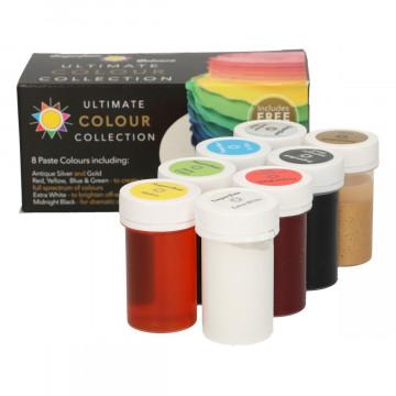 Pack de 8 colorantes en pasta Sugarflair