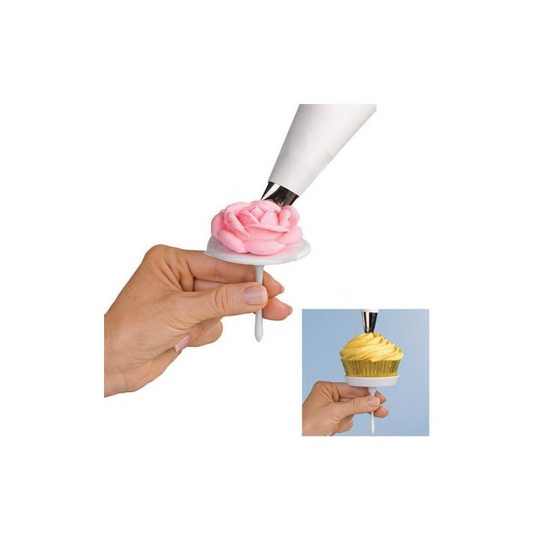 Juego de clavos para flores + clavo para decorar cupcakes Wilton
