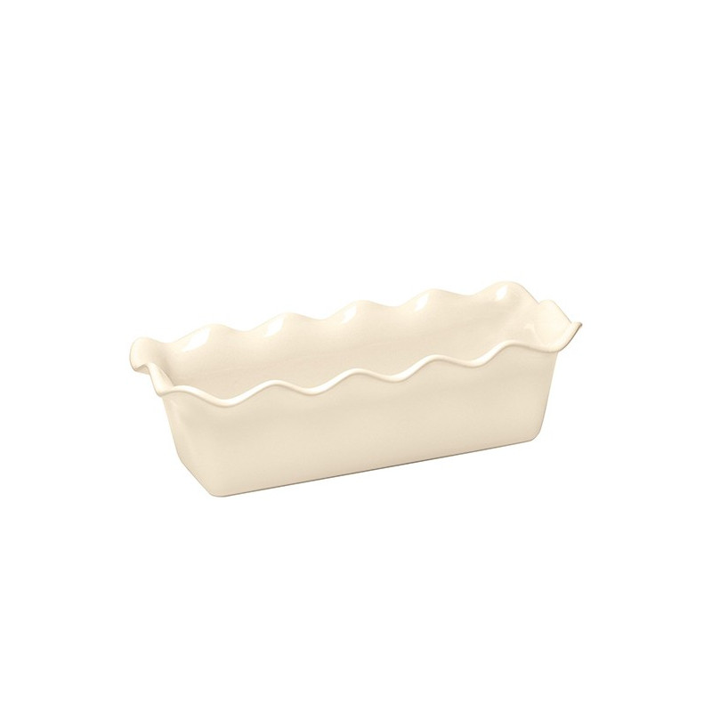 Molde rectangular de cerámica Crema Emile Henry