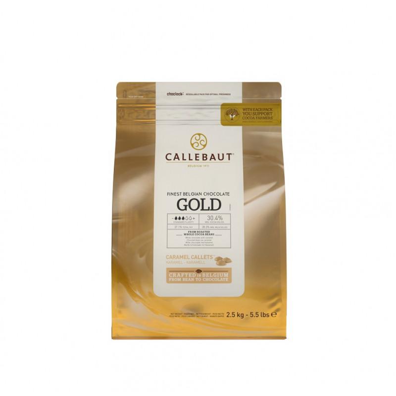 Chocolate GOLD en grageas 2.5 kg Callebaut