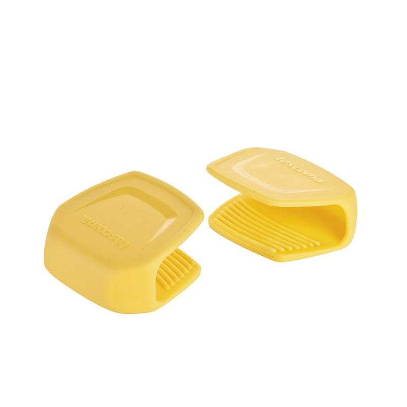 Pack de 2 Agarraderas de silicona amarillo Tescoma