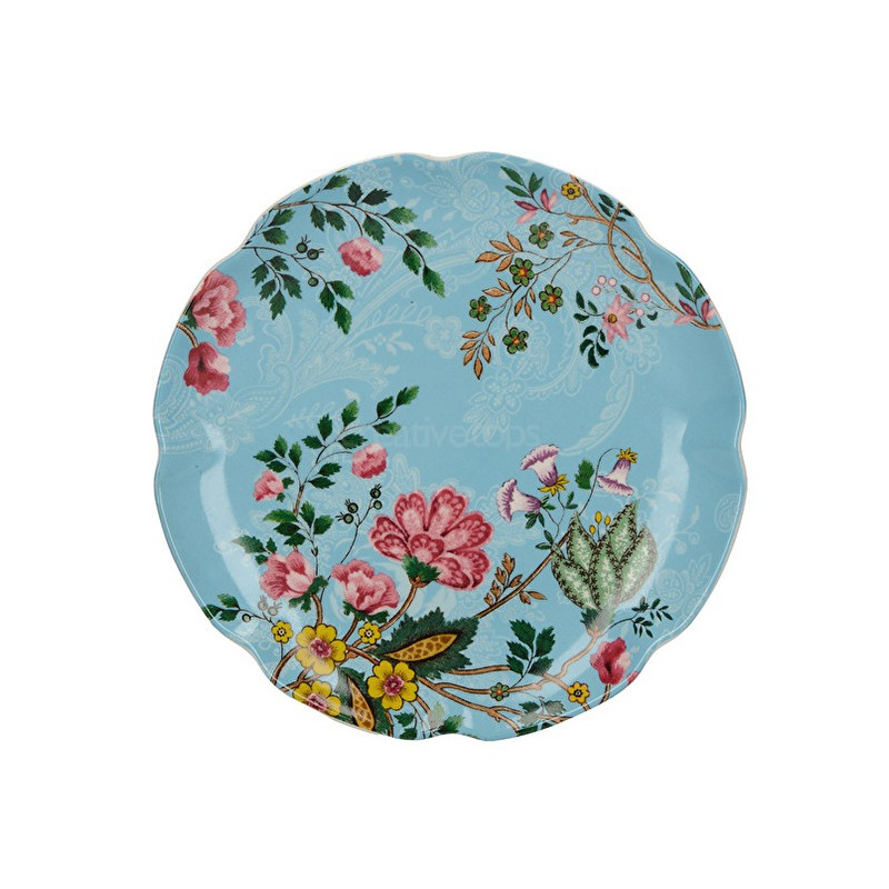 Plato de cerámica 17 cm Azul Eastern Floral Katie Alice