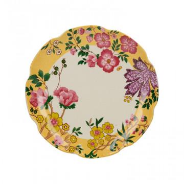 Plato de cerámica 17 cm Amarillo Eastern Floral Katie Alice