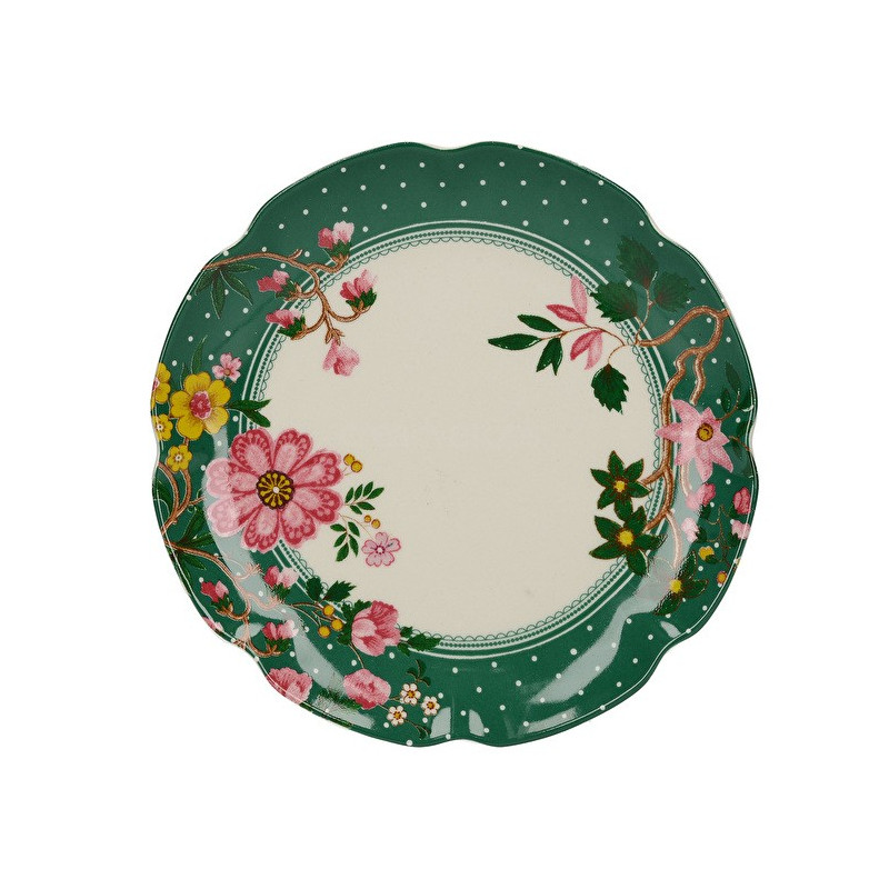 Plato de cerámica 17 cm Verde Eastern Floral Katie Alice