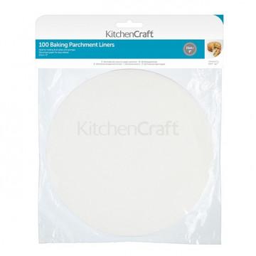 Pack de 100 Bases redonda de papel de horno 23 cm Kitchen Craft