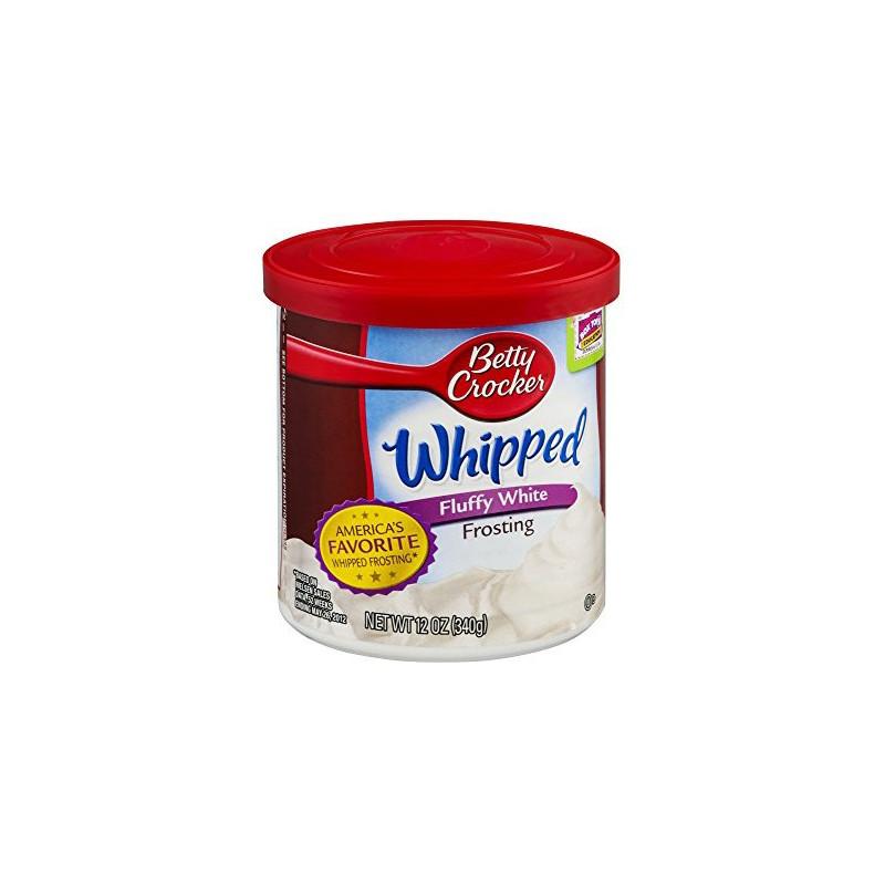 Frosting Crema de relleno Ligero de Vainilla Whipped Fluffy Betty Crocker